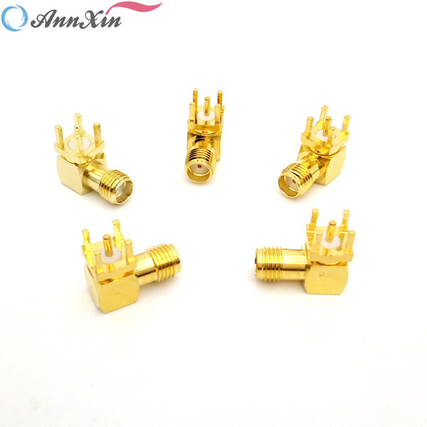 Factory Price Right Angle SMA Connector SMA Female Right Angle PCB Mount Connector (3)