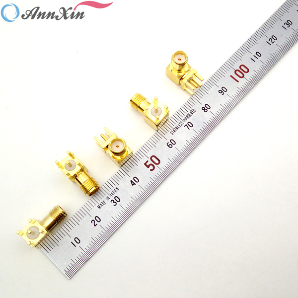 Factory Price Right Angle SMA Connector SMA Female Right Angle PCB Mount Connector (5)
