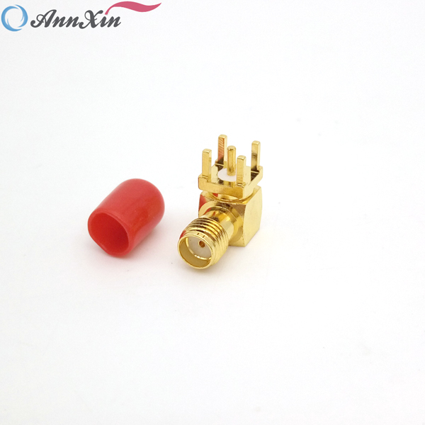 Factory Price Right Angle SMA Connector SMA Female Right Angle PCB Mount Connector (6)