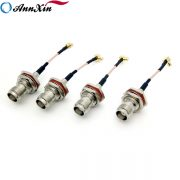 High Quality MCX Right Angle Plug To TNC Jack Bulkhead For RG178 Cable 6cm (4)