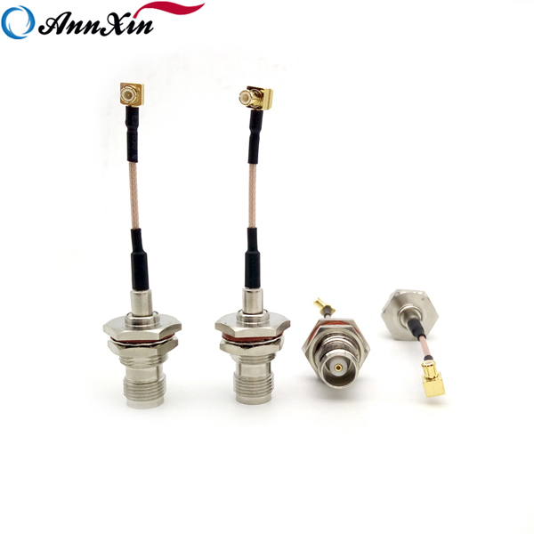 High Quality MCX Right Angle Plug To TNC Jack Bulkhead For RG178 Cable 6cm (6)