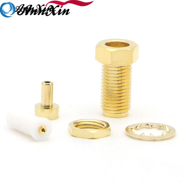RP-SMA female plug center nut bulkhead RF Connector For 1.37 U.FL IPX Mini Coax Cable