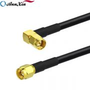 SMA Male Right Angle to SMA Male Straight RG223 Coaxial Pigtail Cable 150cm (2)