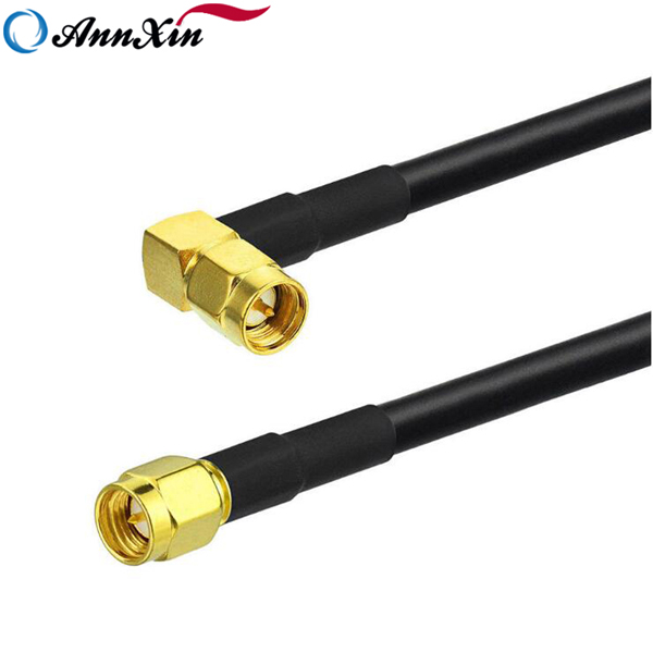 SMA Male Right Angle to SMA Male straight RG223 Coaxial Pigtail Cable 25cm (2)