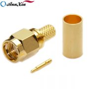 SMA Male Straight Connector For RG58 RG223 (2)