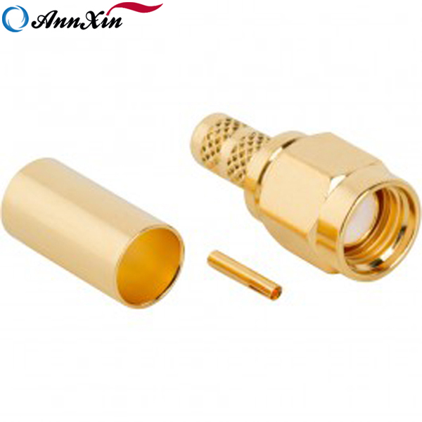 SMA Male Straight Connector For RG58 RG223 (3)