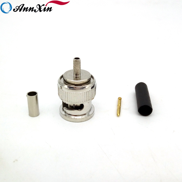Wholesale High Quality BNC Male Connector Crimp BNC Pin Connector For RG179 Cable (2)