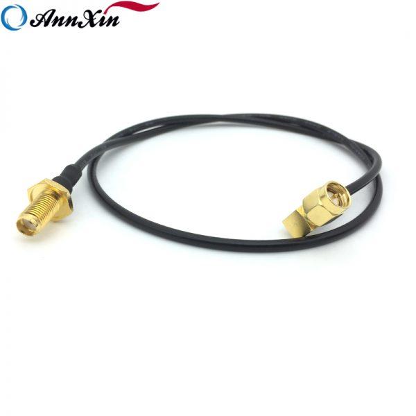 50 ohm SMA Male Right Angle to SMA Female Bulkhead RG174 Coaxial Cable (3)