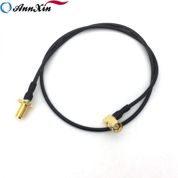 50 ohm SMA Male Right Angle to SMA Female Bulkhead RG174 Coaxial Cable (4)