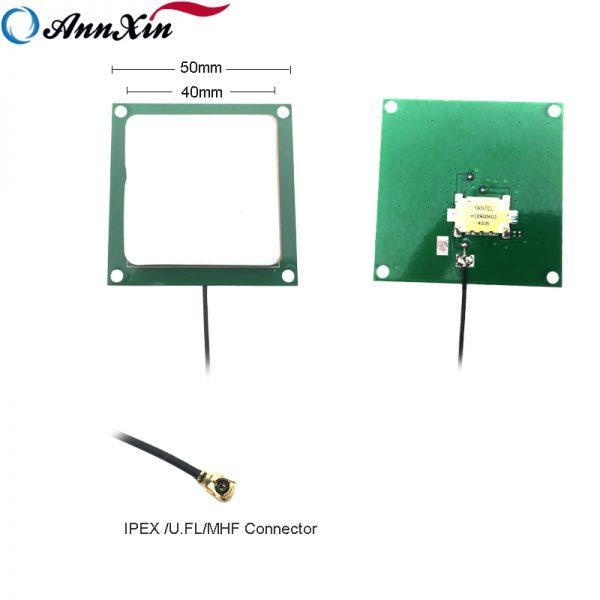 50x50mm Uhf Rfid Ceramic Chip Antenna With U.fl 1.13mm Cable (2)