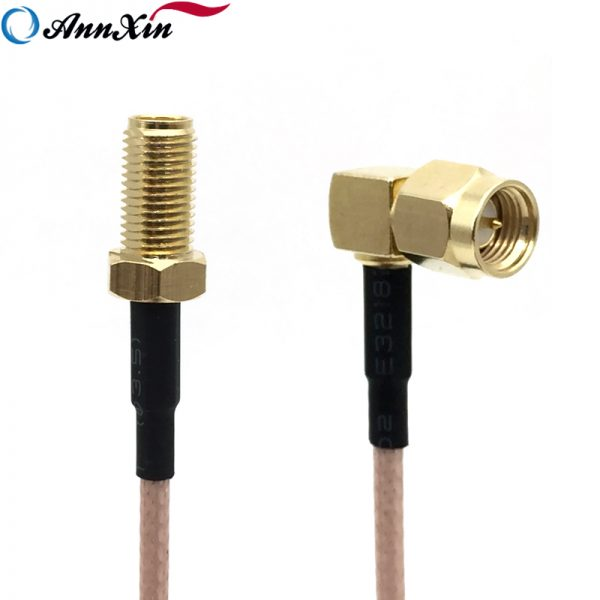 Female SMA to Male MCX RF Coaxial RG316 cable jack right angle Pigtail Any Long