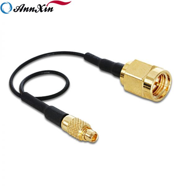 High Quality MMCX Plug to RP-SMA Plug adaptor RF 1.13mm Coaxial Cable (1)