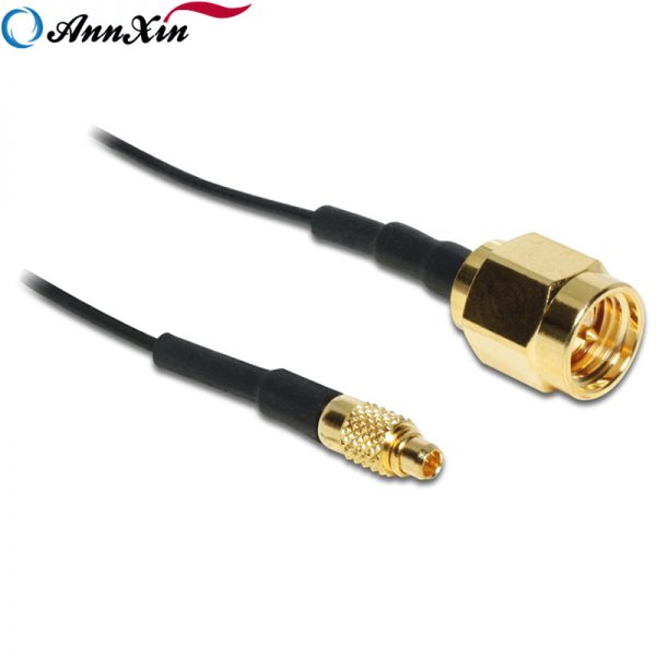High Quality MMCX Plug to RP-SMA Plug adaptor RF 1.13mm Coaxial Cable (2)