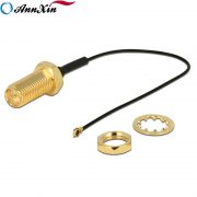 MHF4 To RP-SMA Female Bulkhead Connector Jack 0.81mm Coaxial Cable (4)