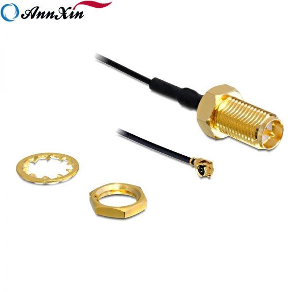 RP-SMA Crimp Jack bulkhead to Ufl Mhf1 Plug 1.13 Cable (2)
