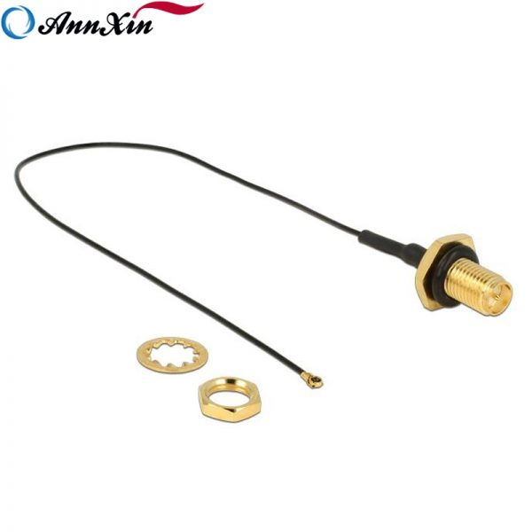 RP-SMA Jack Bulkhead to MHF4 Cable Assembly (3)