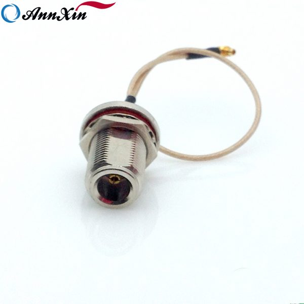 Waterproof N-Type Female Bulkhead to MMCX Right Angle RG178 Cable 15CM Long (10)
